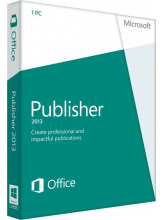 Microsoft Publisher 2013 (English, электронная лицензия)