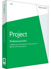 Microsoft Office Project Professional 2013 (English коробочная версия на DVD)